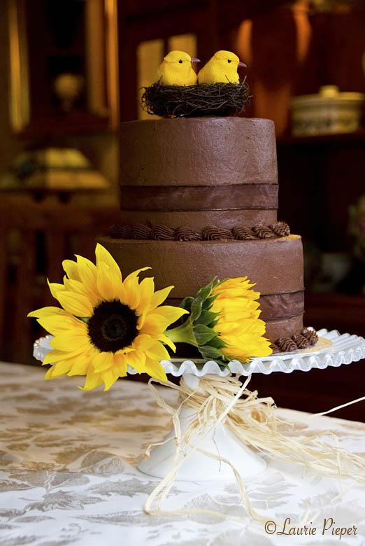 WeddingCakeChocolateSunflower
