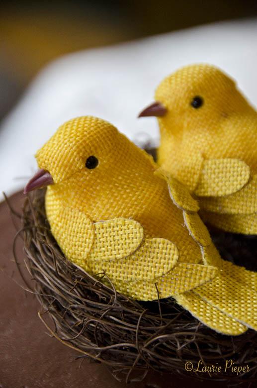 YellowLoveBirds4Cake
